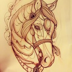 Horse tattoo I by Demondes on deviantART Tribal Tattoos, Tattoos Skull, Love Tattoos, Beautiful Tattoos, New Tattoos, Celtic Tattoos, Horse Tattoo Design, Tattoo Designs, Tattoo Horse
