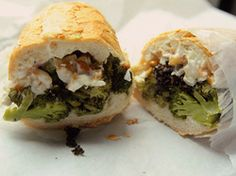 sandwich notion - roasted broccoli and ricotta and pine nuts.