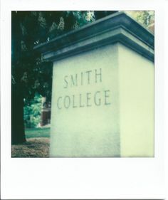 Smith College on PX70 Film from The Impossible Project #polaroid #instant #sx-70