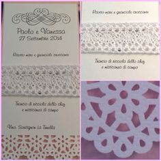 Menù personalizzato, pink&pizzo #weddinginpink