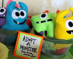 Fun and friendly little monster party favors! These will be a hit at your next party! Get for all ages . Can be done any color you want or get an
