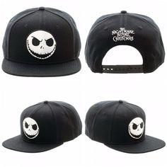 4d83589820e Nightmare Before Christmas Jack Black Snapback Hat Baseball Cap Clearance  SALE  Disney  BaseballCap Jack