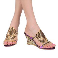 Sandalias de las mujeres, 2016 estilos de noticias de alta calidad rhinestone femenino de cuero genuino talón de noche del pavo real, sandalswomen zapatos GS-T005