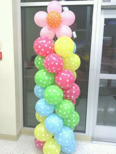 Balloon Columns, Balloon Decorations, Towers, Balloons, Easter, Business, Spring, Fun, Globes