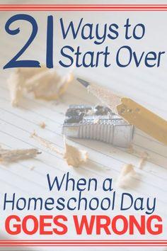 Bad homeschool days
