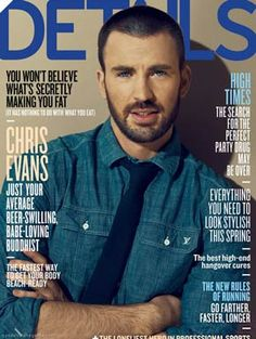 Chris Evans in Details Magazine
