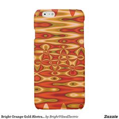 Bright Orange Gold Abstract Glossy iPhone 6 Case
