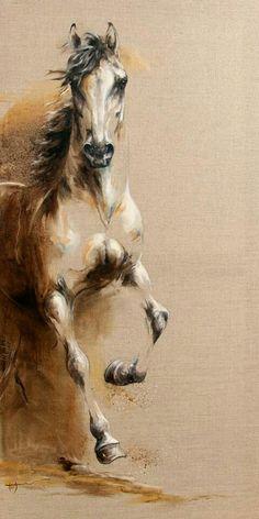 Best Ideas Painting Ideas On Canvas Animals Horse Art Painted Horses, Horse Canvas Painting, Canvas Art, Seven Horses Painting, Knife Painting, Oil On Canvas, Horse Drawings, Art Drawings, Pencil Drawings