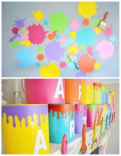 Art Themed 3rd Birthday Party via KARA'S PARTY IDEAS KARASPARTYIDEAS.COM The Place for All Things Party! Cake, decor, printables, favors, an...