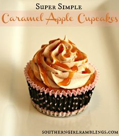 Caramel Apple Cupcakes Frosting 7 -8 cups confectioners? sugar 3/4 cup butter, softened 1/2 cup apple cider or apple juice 3/4 tsp. ground ...
