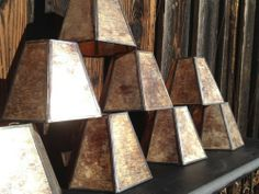 Lampshades~Mica Mini Clip Ons Set of 8 EXCELLENT PRE-OWNED CONDITION! Chandelier Set.