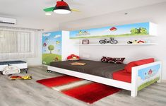 Cheap Angry Birds Kids Room Decorating Idaes For Boys ~ http://lanewstalk.com/tips-to-have-great-decorating-ideas-for-kids-rooms/