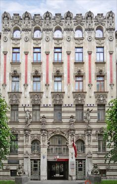 Riga, the capital of Latvia, has the finest and the largest collection of Art Nouveau buildings in the world #Riga #:Latvia #Art_Nouveau #Buildings #Architecture