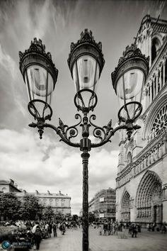 Notre Dame Lamppost  Paris