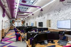 Open offices and wall graphics at Money.co.uk Offices – Gloucestershire