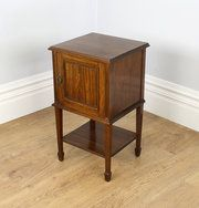 Edwardian Howard & Sons Satinwood Bedside Cabinet