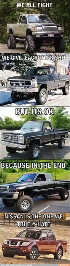 Diesel Truck Meme - Ford Chevy Dodge GMC - Diesel Truck Gallery for nothing but Diesel Trucks, memes, and more! Jacked Up Trucks, Dodge Trucks, Cool Trucks, Big Trucks, Pickup Trucks, Cool Cars, Lifted Diesel Trucks, Toyota 4x4, Ford 2000