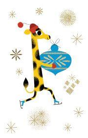 Roger la Borde | Christmas Giraffe Notecard Pack by Daniel Roode