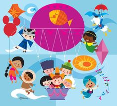 Cute Small World Art Collaboration Idea for OCC box with Disney Characters Disney Kunst, Arte Disney, Disney Fan Art, Disney Love, Disney Magic, Expo Disney, Mary Blair, Children's Book Illustration, Illustrations