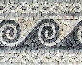 Waves Marble Mosaic Border Wall Floor. MB071