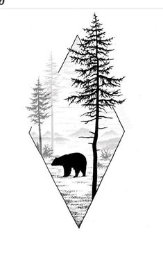 Doodle Drawings, Tattoo Drawings, Montain Tattoo, Cabin Tattoo, Forrest Tattoo, Smal Tattoo, Saved Tattoo, Shadow Art, Abstract Nature