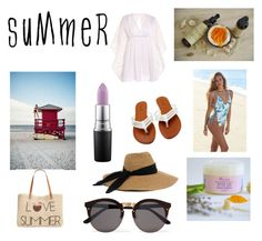 """""""Summer Essentials"""" by bloomey on Polyvore featuring beauty, LA: Hearts, Style & Co., Eugenia Kim, Illesteva and MAC Cosmetics"""