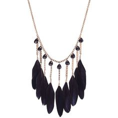 Yoins Black Feather Pendant Collar Necklace (415 INR) ❤ liked on Polyvore featuring jewelry, necklaces, accessories, colar, black, feather pendant necklace, plastic chain necklace, feather necklace, collar necklace and long pendant
