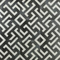 Ivy Hill Tile Anabella Mor Encaustic 9 in. x 9 in. 11mm Matte Porcelain Floor and Wall Tile (10.76 sq. ft. / Box) - EXT3RD101344 - The Home Depot