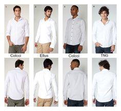 traje passeio completo masculino camisas brancas