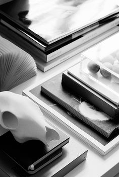 tablescape in greyscale