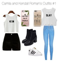 """""""C. And K. Roman Outfit"""" by arianagrande1962 on Polyvore featuring New Look, adidas, Zara, River Island and Casetify"""