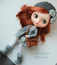 Blythe outfit: dress hat boots and bag by juliettaexussetta