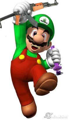 Mario Smoking Weed | 588px