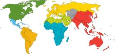 This map shows the work of the Presbyterian Church (U.S.A.) around the world.