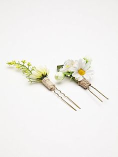 2 Pack Floral Hair Picks