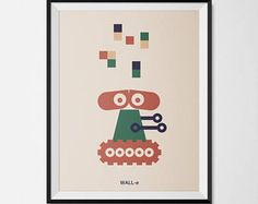 Wall-e for your wall on a poster A4 or A3