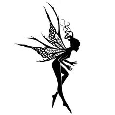 Fairy Stamp, Spellbound Fairy, Lavinia Stamps, Acrylic Stamp by InkArtDesigns on Etsy Leprechaun, Tattoo Painting, Watercolor Tattoos, Fairy Silhouette, Silhouette Drawings, Animal Silhouette, Fairy Tattoo Designs, Tampons Transparents, Resin Uses
