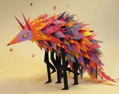 Paper version of my original design by Lila Poppins  lilapoppins:  sneak peak from Luna . Design by clément de ruyter