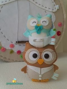 cannot read this but very cute owls Baby owl would be adorable for a baby shower