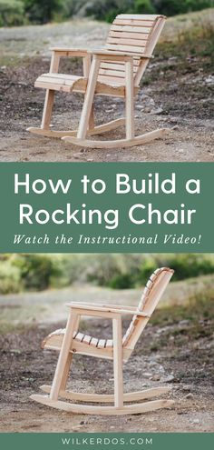 Build A Rocking Chair Build A Rocking Chair The DIY Mommy thediymommy DIY Home You know it s funny how many seating options I ve made nbsp hellip farmhouse furniture Rocking Chair Plans, Rocking Chair Porch, Outdoor Rocking Chairs, Swinging Chair, Diy Chair, Adirondack Chairs, Woodworking Projects Diy, Woodworking Plans, Green Woodworking