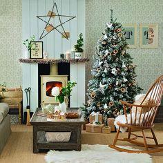 Neutral Christmas living room   Christmas decorating ideas   Christmas 2013   PHOTO GALLERY   Ideal Home   Housetohome.co.uk