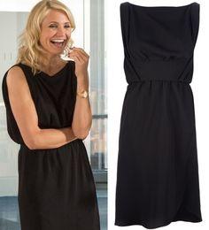 The Other Woman Movie: Carly's (Cameron Diaz) black, sleeveless draped dress by Balenciaga