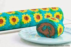 Frozen Fever Sunflower Cake Roll