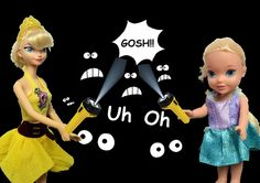 Anna and Elsa Toddlers Blackout at Castle! Disney Frozen Elsya and Annya...