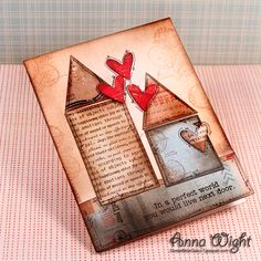 Long Distance Friendship #Card By Anna Wight #papercrafts #scrapbook