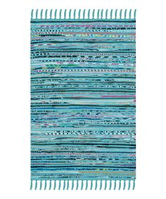 Look at this Turquoise Cece Rug on #zulily today!