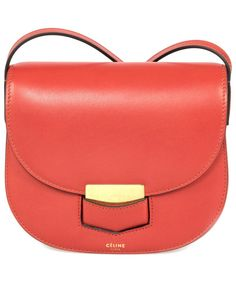 This Céline Trotteur Small Red Calfskin Leather Crossbody Handbag ships  with a Céline branded dust bag and designer s documentation of authenticity. 6297d02710a19