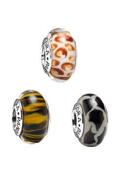 PANDORA Animal Print Murano Glass Charms. I want all of them for my animal theme!