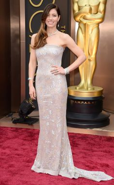 Jessica Biel in Chanel Couture from 2014 Oscars Red Carpet Arrivals | E! Online