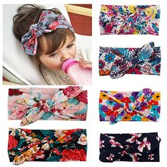 Amazon.com: Quest Sweet Baby Headbands Turban Knotted, Girl's Hairbands for Newborn, Toddler and Childrens: Clothing